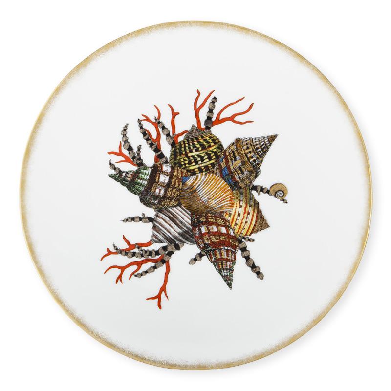 Assiette d ner de forme coupe le jardin de neptune 1 - Saint cyprien les jardins de neptune ...